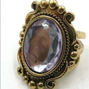 Clear Gemstone Ring